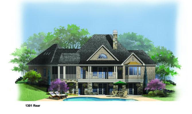 Hillside House Plans Rear Pin