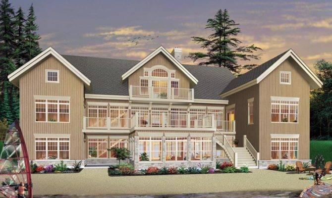 Hillside House Plans Small Lake Sloping Lot