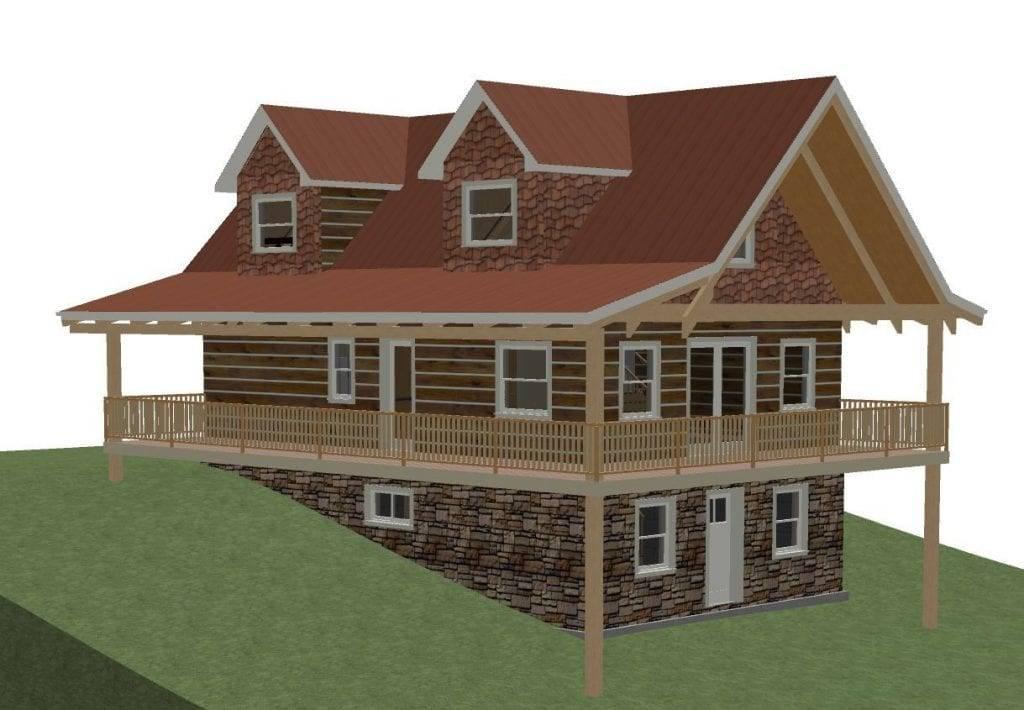 Hillside House Plans Walkout Basement New Plan House Plans 123327