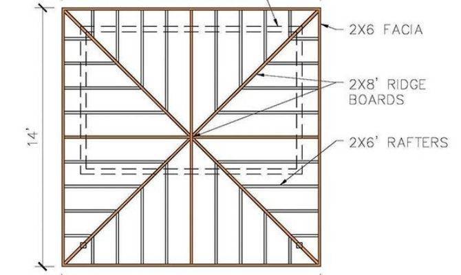 Hip Roof Shed Plans Blueprints Cabana Style