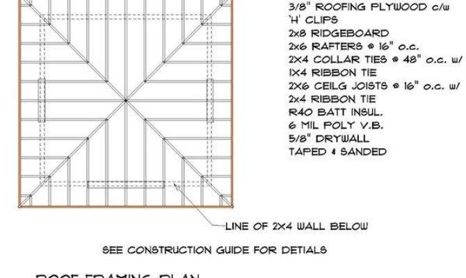 Hip Roof Shed Plans Blueprints Crafting