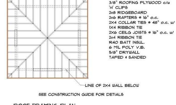 Hip Roof Shed Plans Framing Plan Timber