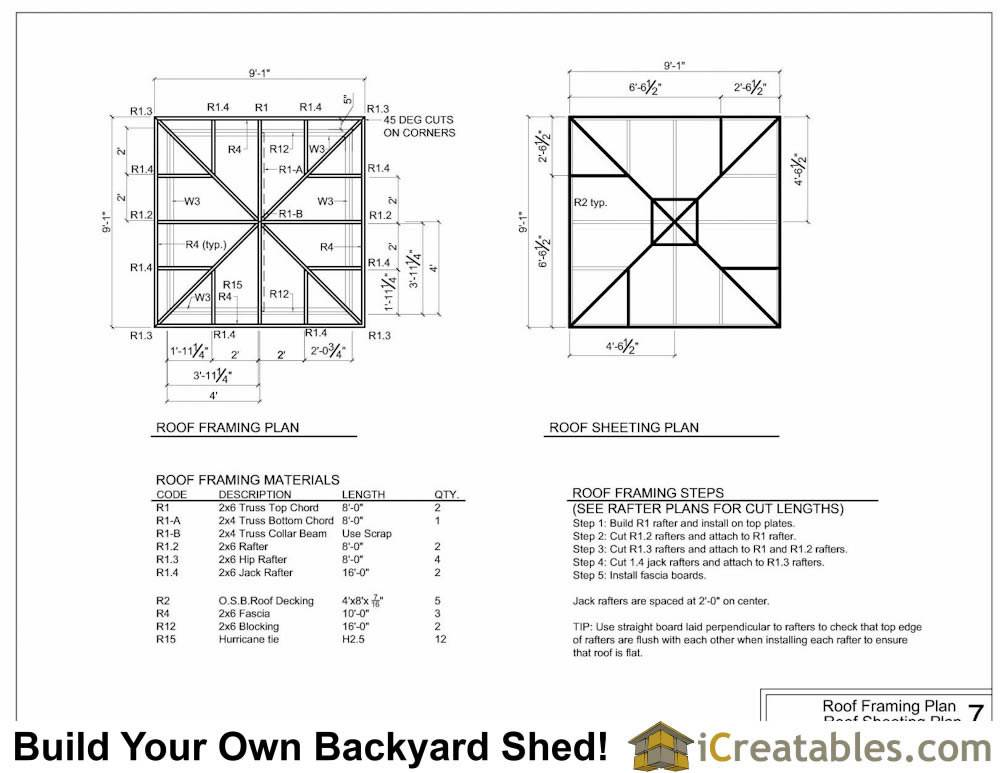 Hip Roof Shed Plans House Plans 136649