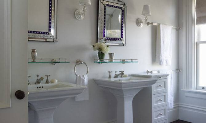 His Her Sink Ideas Transitional Bathroom
