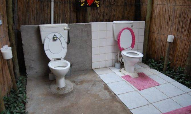 His Hers Toilets Ngepi Camp