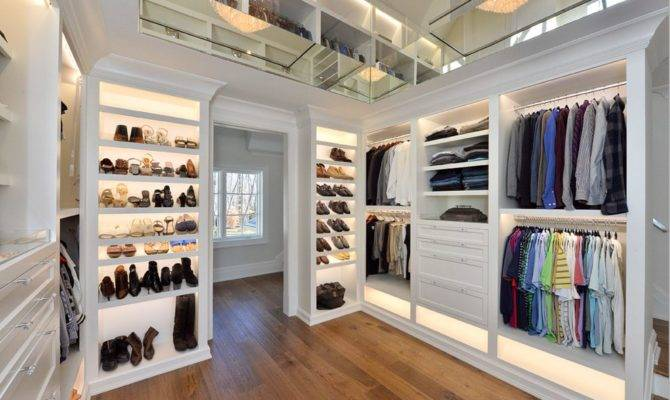 His Hers Walk Closet Designs Trendy Custom Home