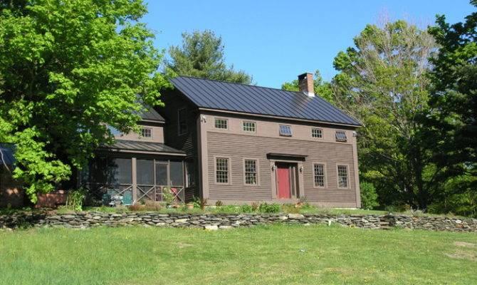 Historic Replica Colonial Farmhouse Exterior