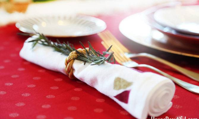 Holiday Napkin Diy Painted Cloth Napkins