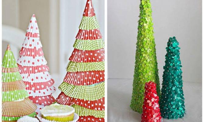 Home Confetti Diy Tabletop Christmas Trees
