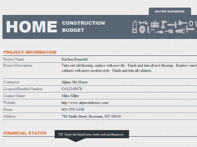Home Construction Budget Template House Plans 11299