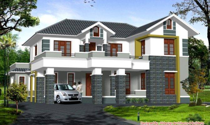 Home Design Bedroom Sloping Roof House Elevation Cool Modern Dining House Plans 82464