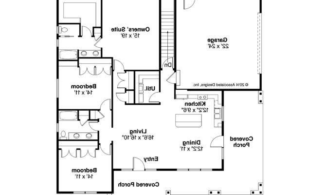 Home Design Craftsman Style Homes Floor Plans Sloped
