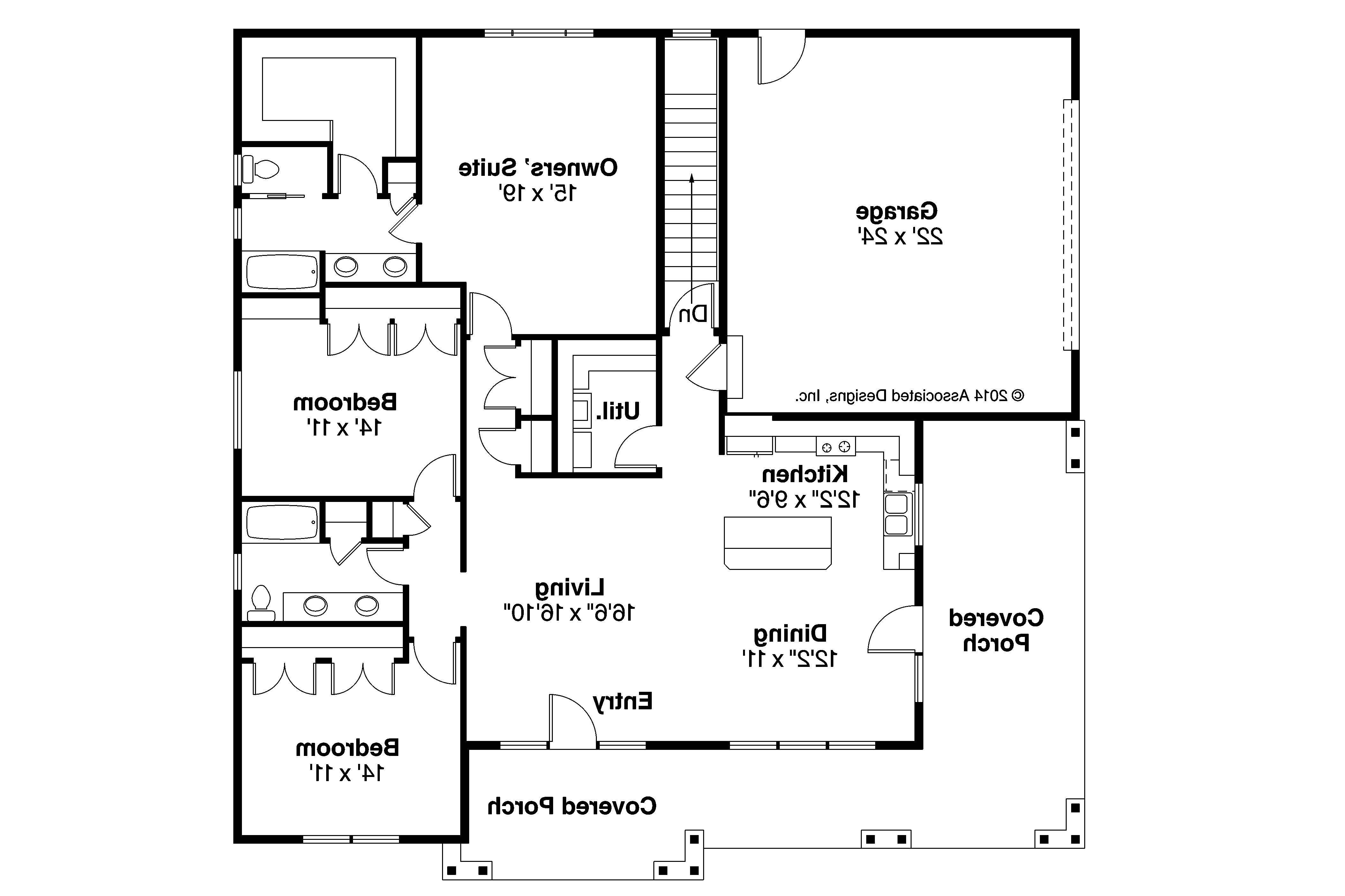 Home Design Craftsman Style Homes Floor Plans Sloped House Plans