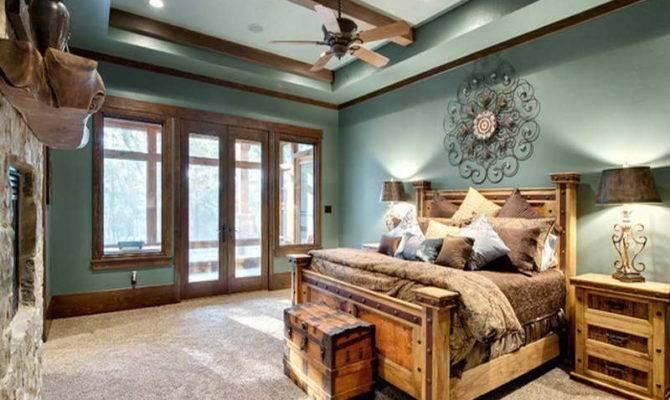 Home Design Rustic Bedroom Mountain Lodge