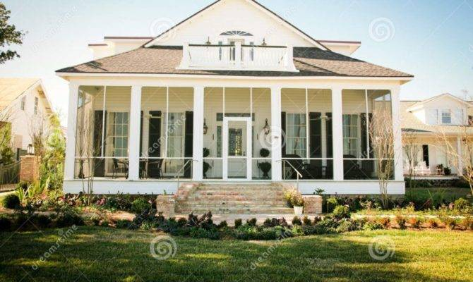Home Design Southern Style House Porch Old