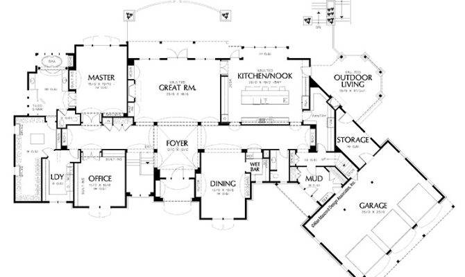 Home Designs Amazing House Floor Plan Large Garage Luxury Plans