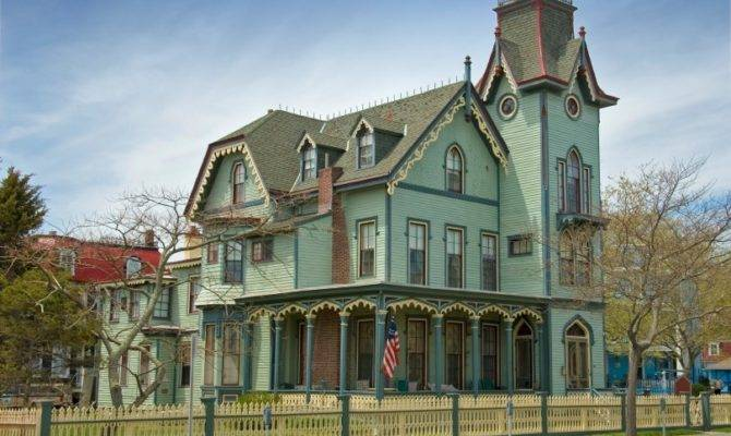 Home Designs Green Wall Beautiful Details Victorian House Styles