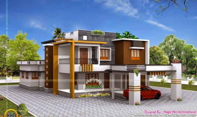 Awesome Modern Flat Roof House Plans 27 Pictures House Plans