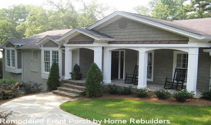 Home Designs Porches Front Porch Ideas Ranch