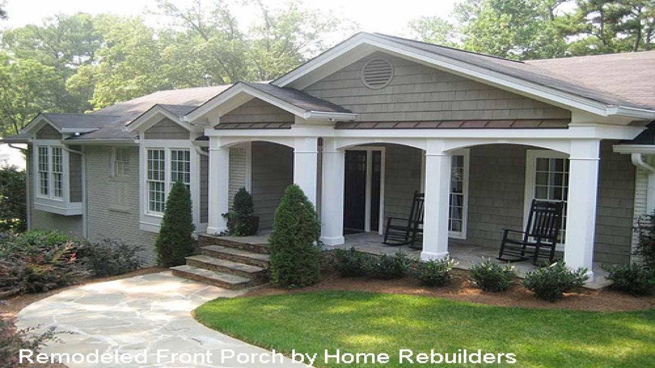 Home Designs Porches Front Porch Ideas Ranch - House Plans  #25