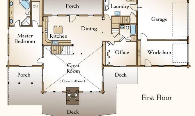 Home Floor Plan Bedroom Log Modern Style