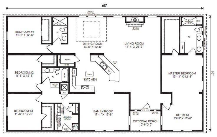 Home Floor Plans Bedroom Bath Double Wide Google Search House Plans 55777