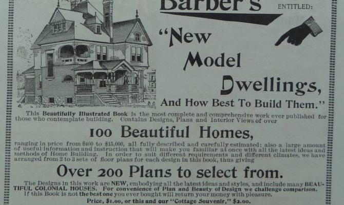 Home House Plans Model Dwelling Antique Victorian Original