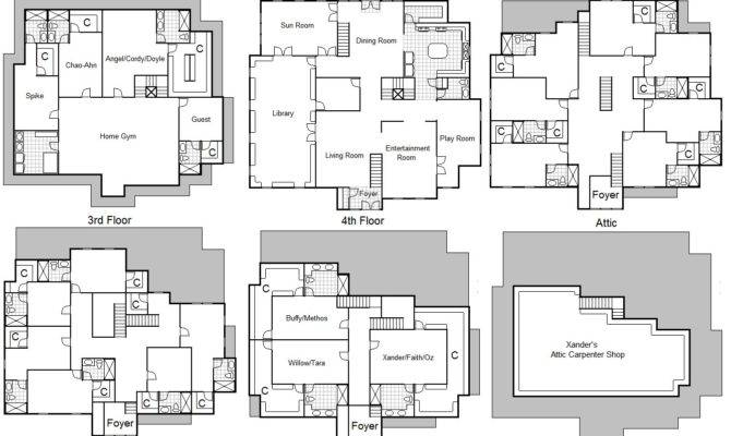 Home Ideas Charmed House Floor Plans