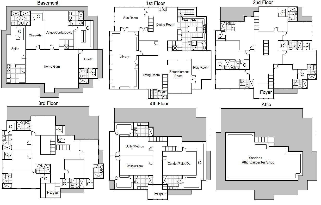 Home Ideas Charmed House Floor Plans House Plans 6433