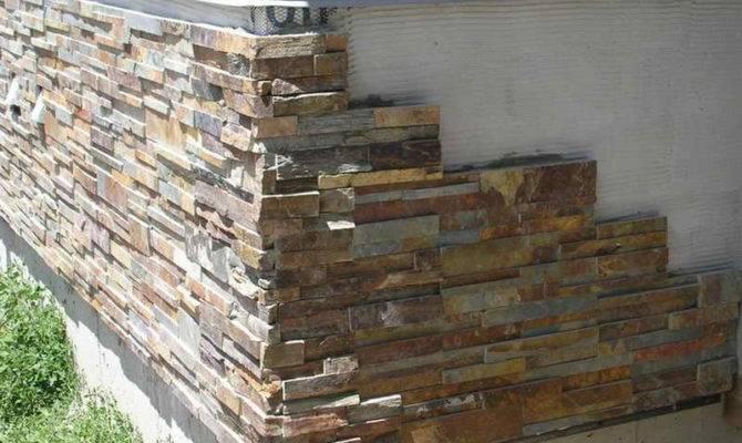 Home Outdoor Applying Stone Veneer Houses Exterior