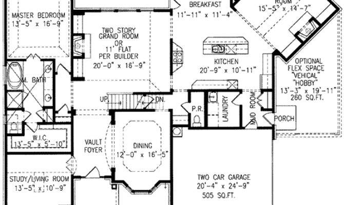Home Plan Angled Keeping Room Floor