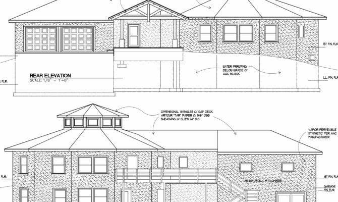 Home Plan Drawings Elevation