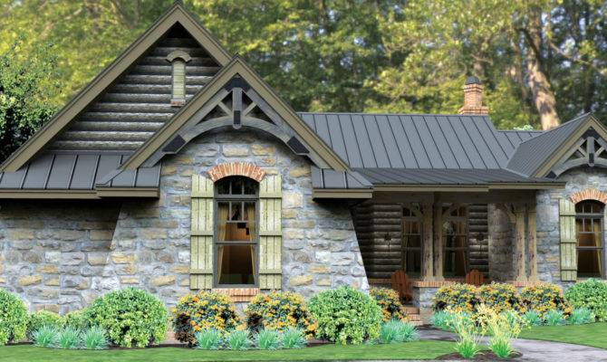 Home Plan Fairy Tale Cottage Has Modern Appeal