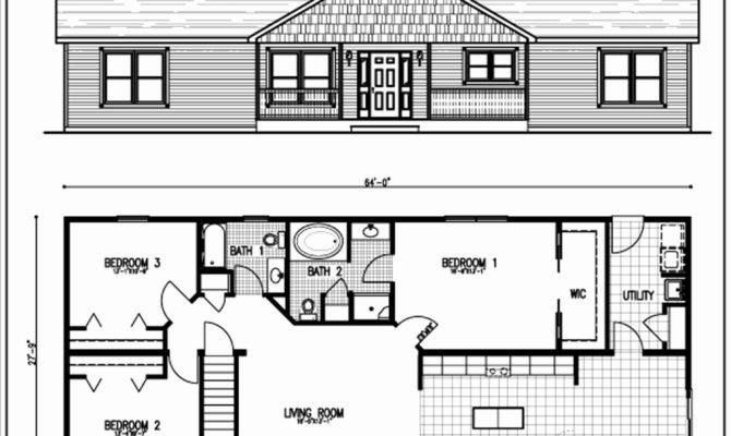 Home Plans Beautiful Ranch Style New Floor