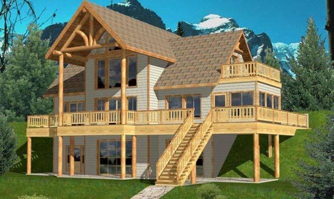 Home Plans Hillside Garage