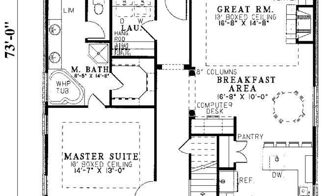 Home Plans Narrow Lots Smalltowndjs