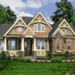Home Plans One Story Craftsman Style House Bungalow