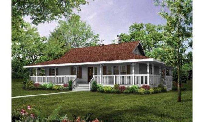 Home Porch Single Story House Plans Wrap Around