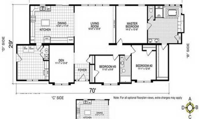 Home Remodeling Double Wide Mobile Floor Plans Side