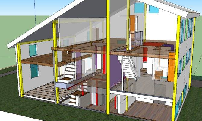 Home Remodling House Structure Cross Section