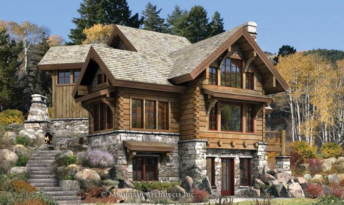 Home Rustic Luxury Log Cabins Plans Ideas Design