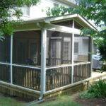 Home Screened Porch Plans Wood Walls