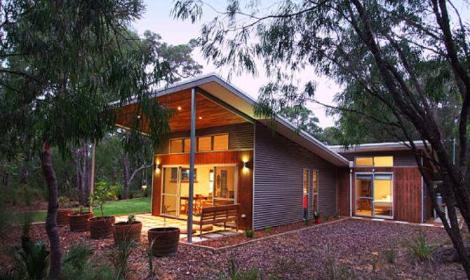 Home Skillion Roof Kyneton House Marcus Reilly Architects