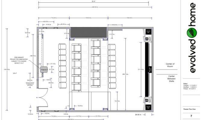 Home Theater Floor Plan Homes Design Inspiration