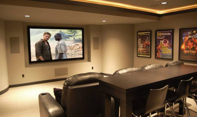 Home Theater Style Featuring Leather Sofas American
