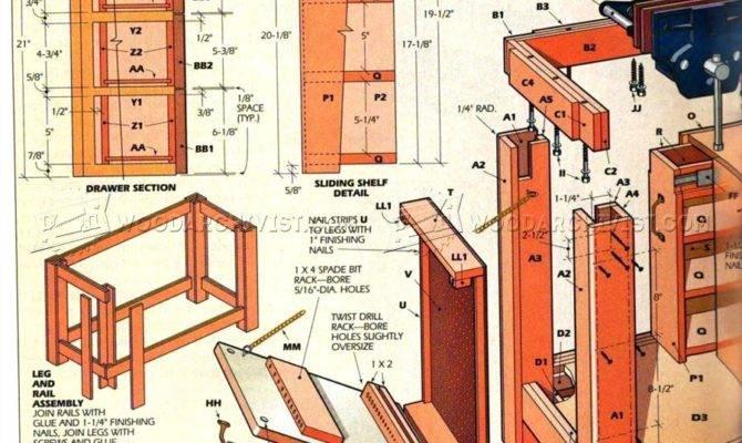Home Workshop Workbench Plans Woodarchivist