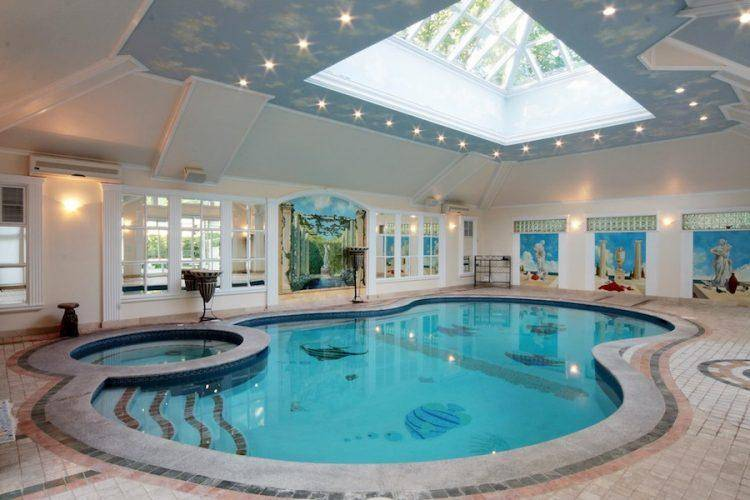 Homes Beautiful Indoor Swimming Pool Designs House Plans 95070