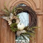Hometalk New Fall Wreath Chic Front Door