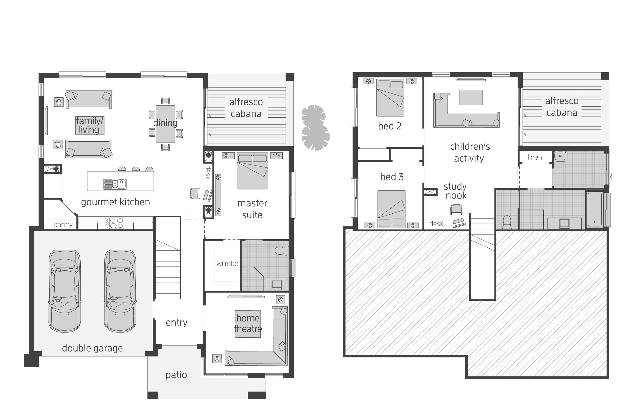 Horizon Act Floorplans Mcdonald Jones Homes House Plans 56433