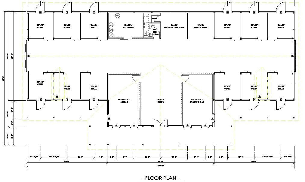 Horse Barn Floor Plans Vip House Plans 33902